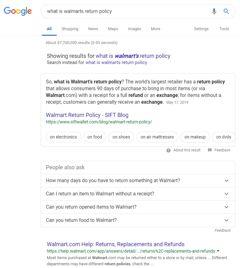 RIS Web- & Software Development - Google Answer Boxes