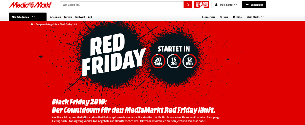 RIS Web- & Software Development - Black Friday Media Markt
