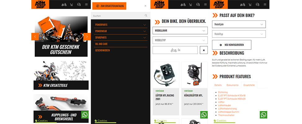 RIS Web- & Software Development - Mobile Commerce Usability KTM-Powershop