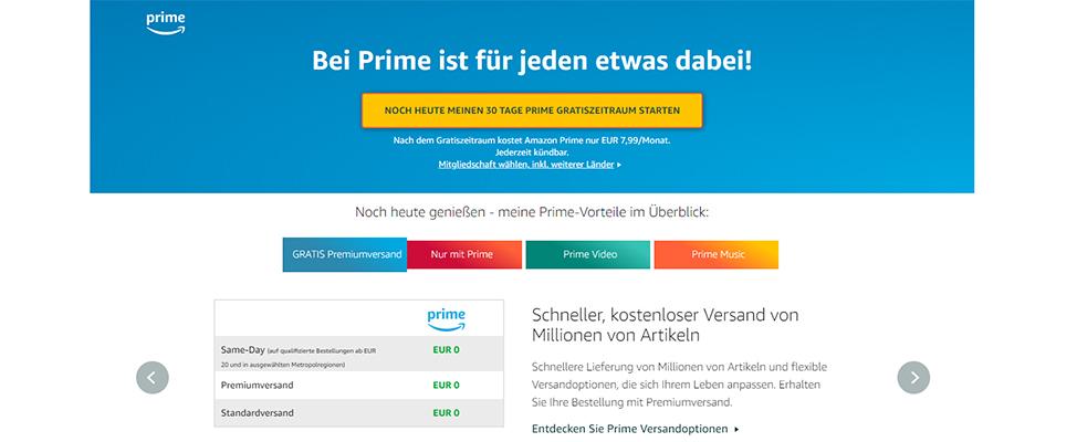 RIS Web- & Software Development - Unique Selling Propositions (USP) - Beispiel Amazon Prime