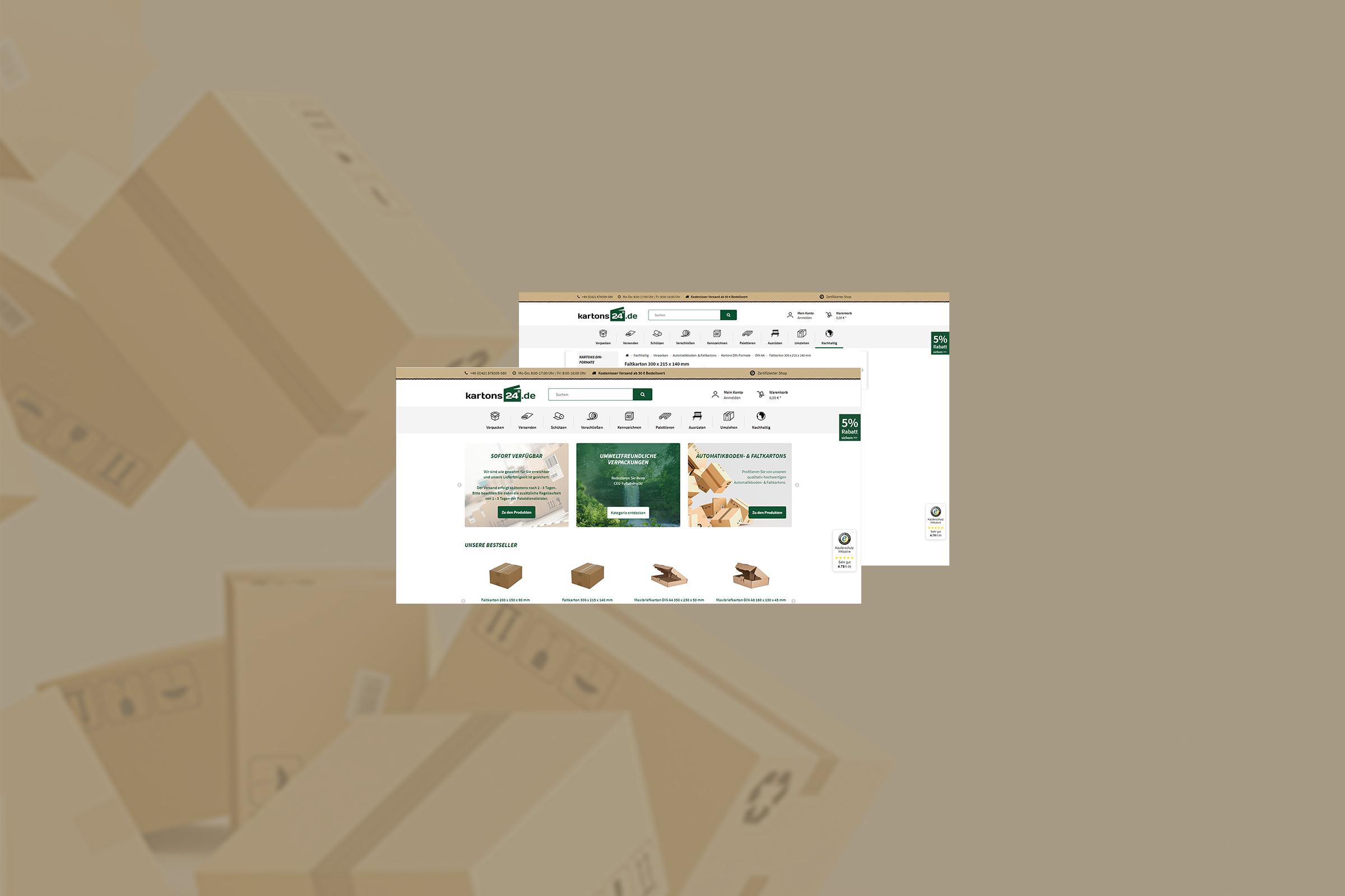 RIS Web- & Software Development - Projekt - kartons24.de